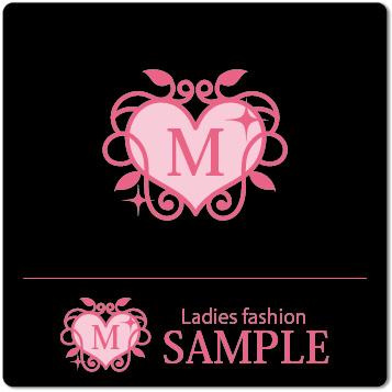 ロゴ レディースファッション(背景 ブラック)