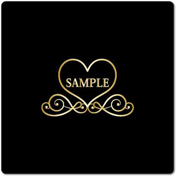ロゴ ネイルサロン(ゴールド)
