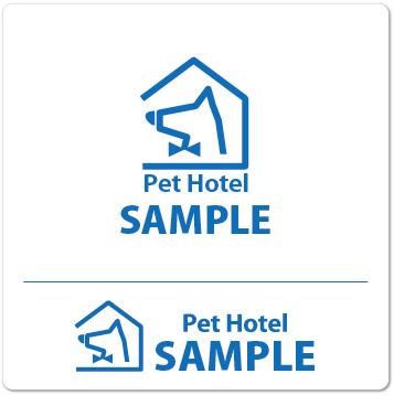 ロゴ ペットホテル