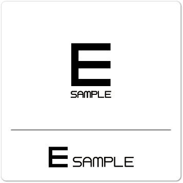 ロゴ E(アルファベット)シンプル